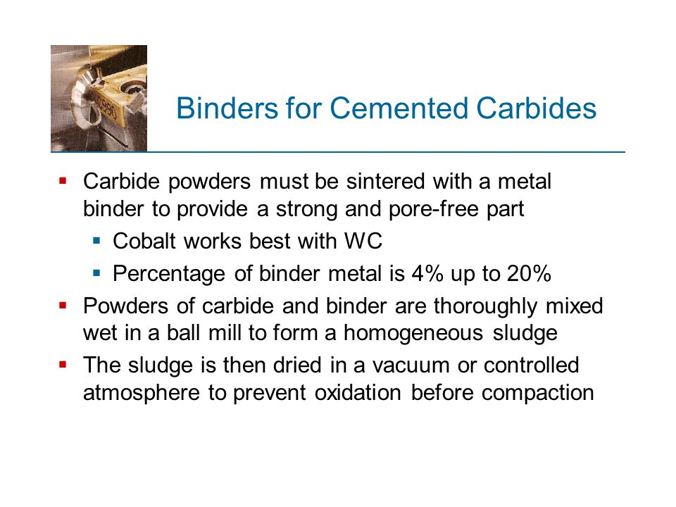 Binders for Cemented Carbides