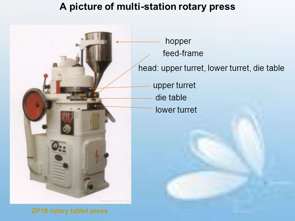 A picture of multi-station rotary press