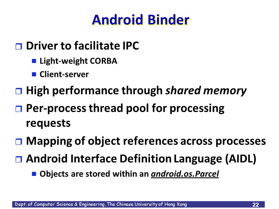 Android Binder Driver to facilitate IPC