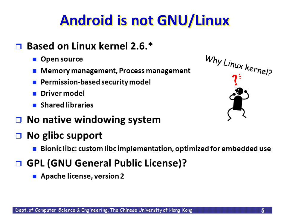 Android is not GNU/Linux