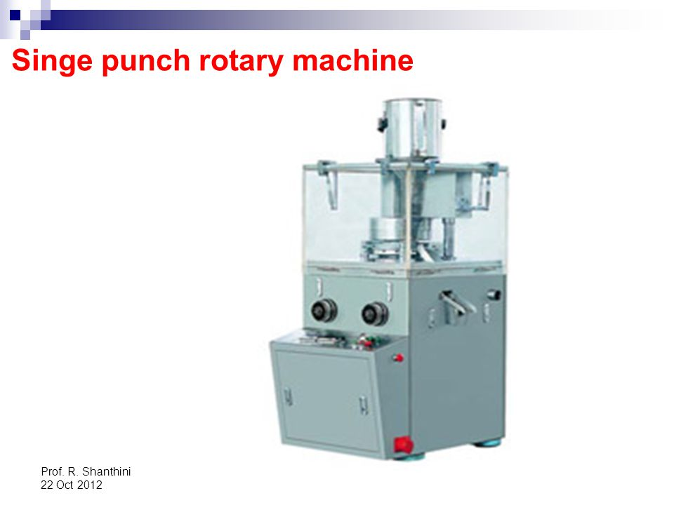 Singe punch rotary machine