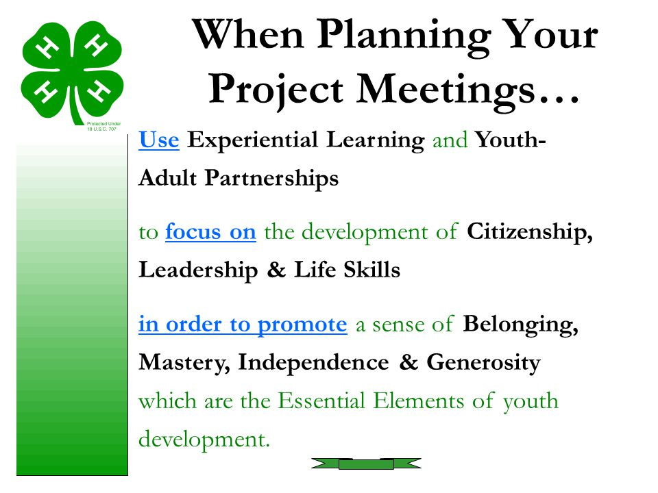 When Planning Your Project Meetings…