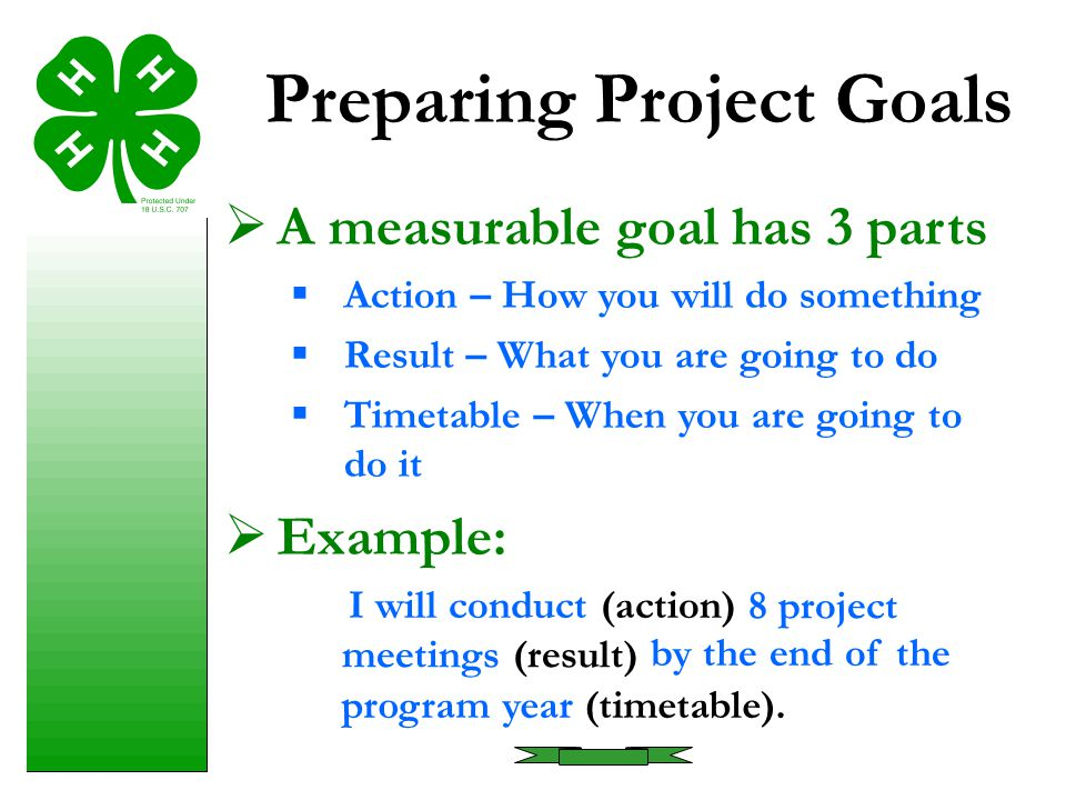 Preparing Project Goals