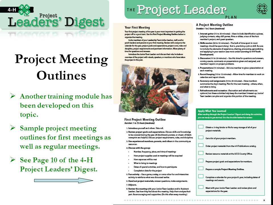 Project Meeting Outlines