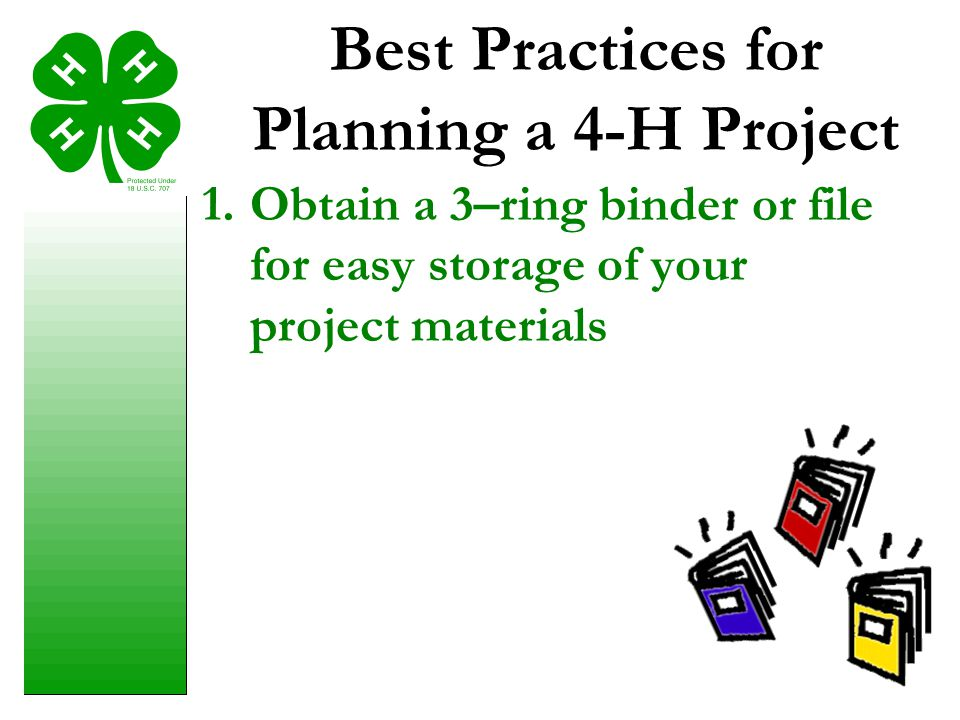 Best Practices for Planning a 4-H Project