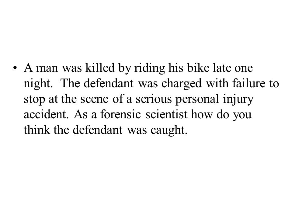 A man was killed by riding his bike late one night