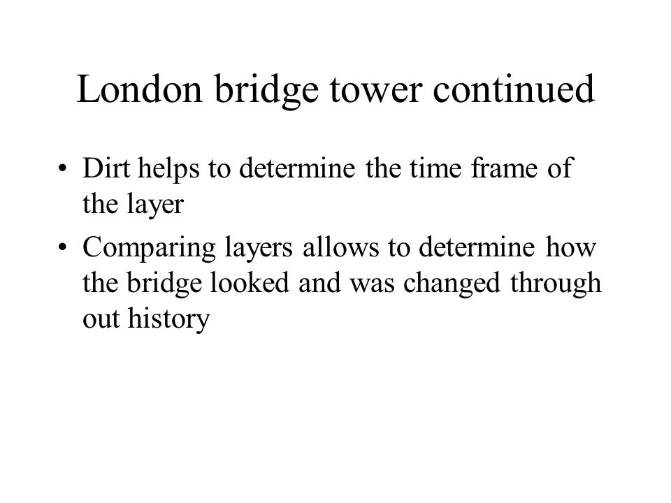 London bridge tower continued
