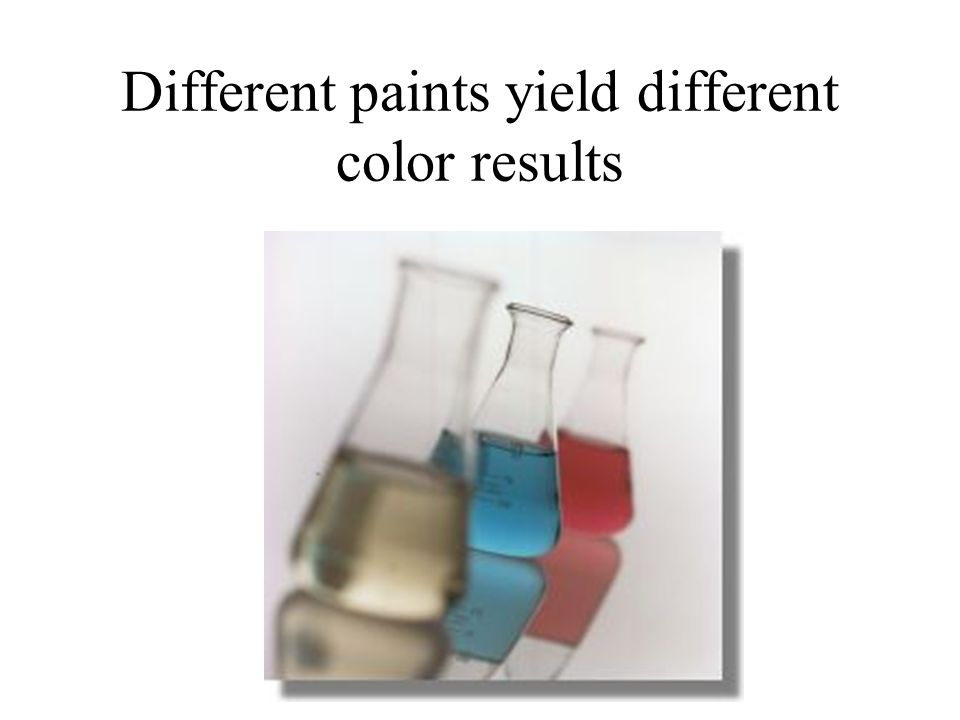 Different paints yield different color results