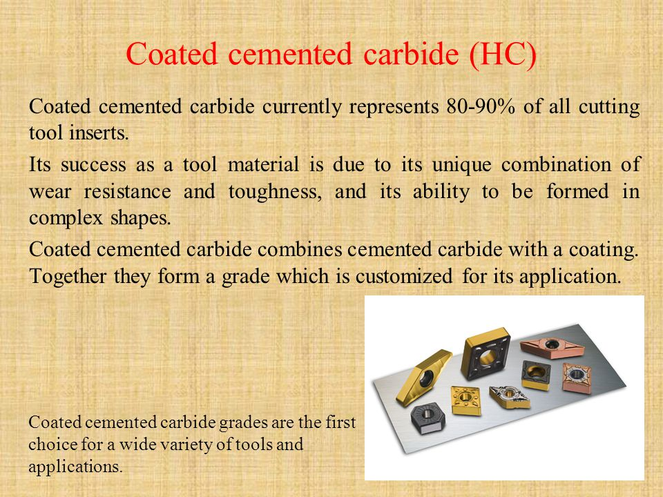 Coated cemented carbide (HC)