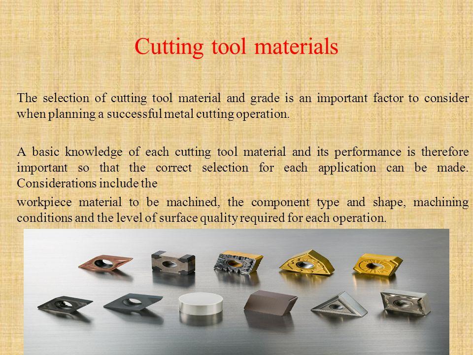Cutting tool materials