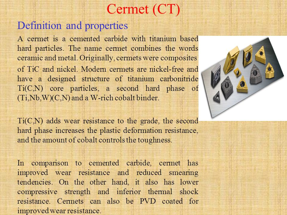 Cermet (CT) Definition and properties