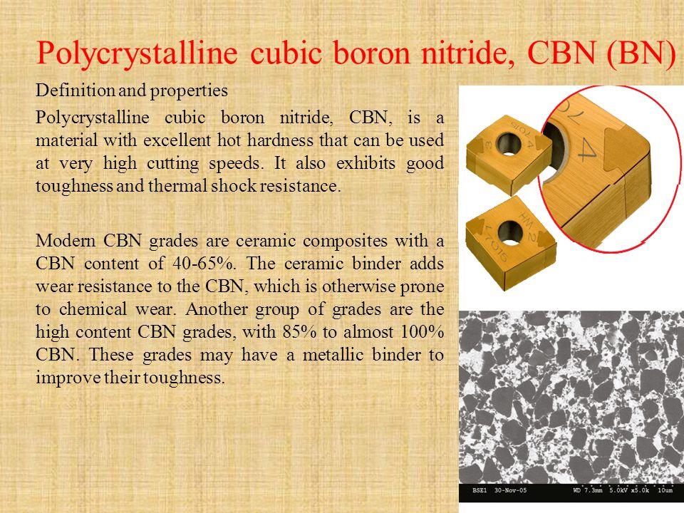 Polycrystalline cubic boron nitride, CBN (BN)