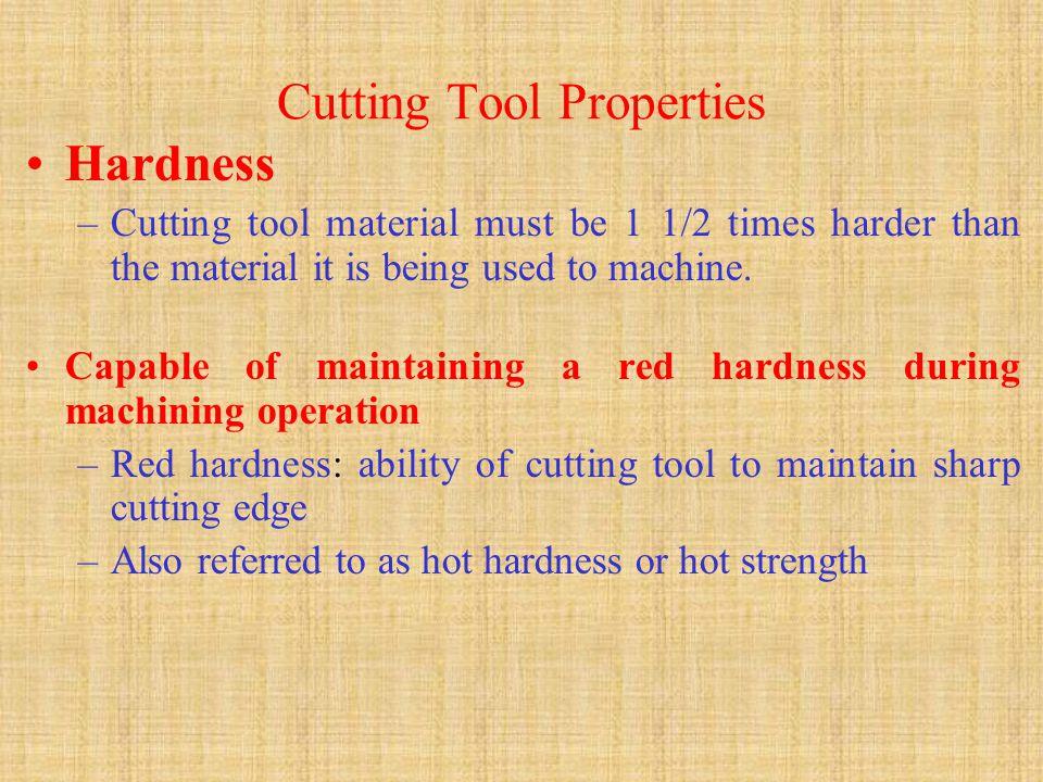 Cutting Tool Properties