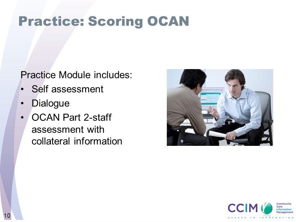 Practice: Scoring OCAN