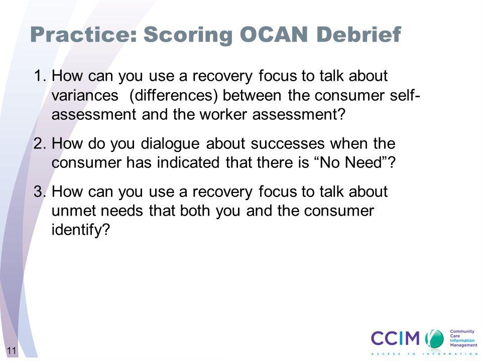 Practice: Scoring OCAN Debrief