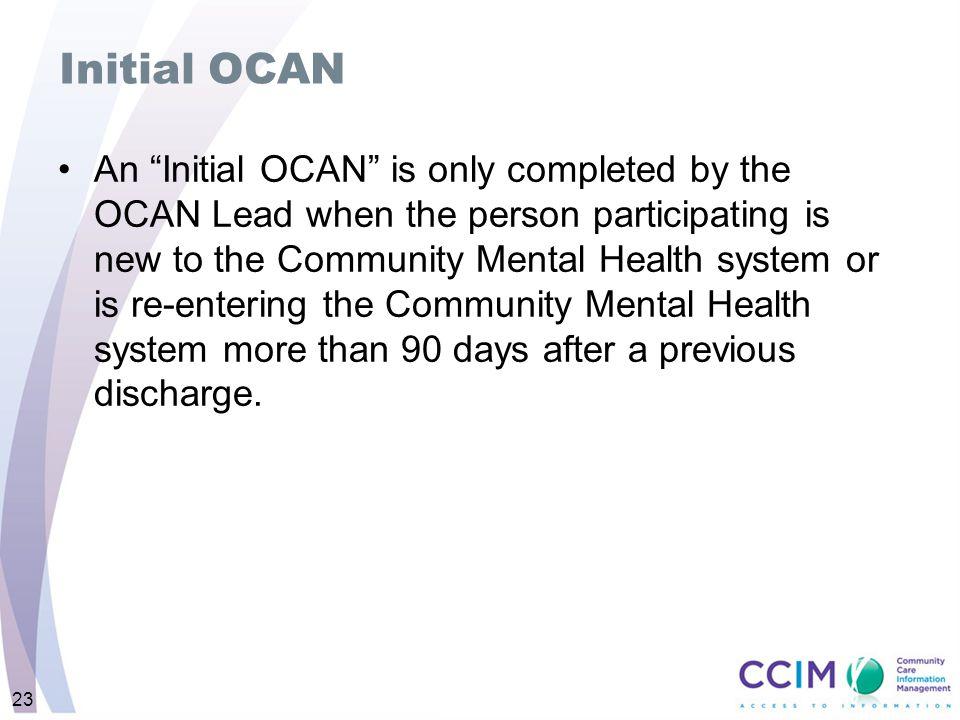 Initial OCAN