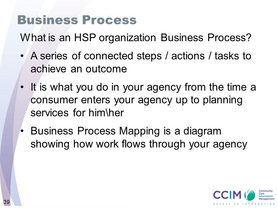 Business Process What is an HSP organization Business Process