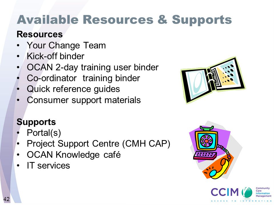 Available Resources & Supports