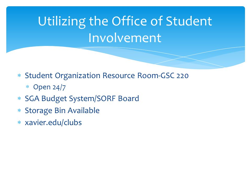 Utilizing the Office of Student Involvement