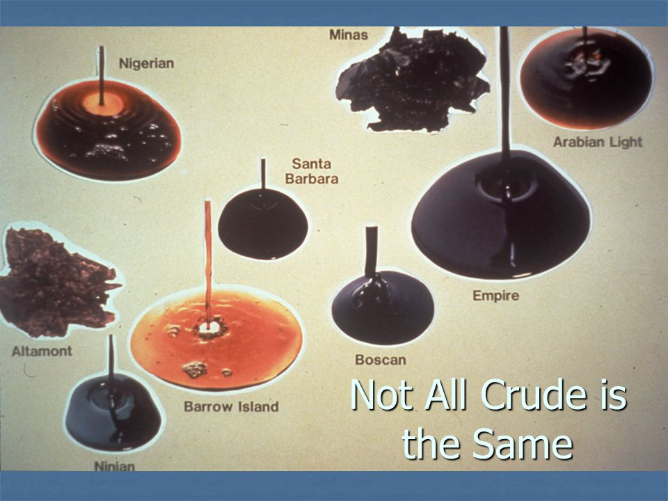 Not All Crude is the Same