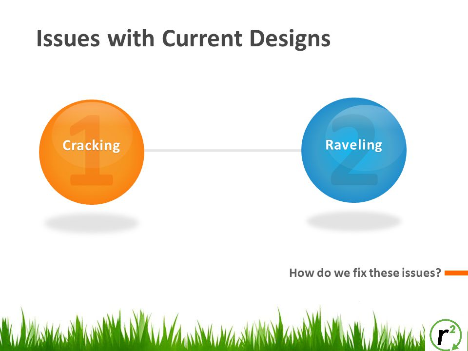 1 2 Issues with Current Designs Cracking Raveling