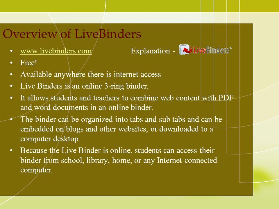 Overview of LiveBinders