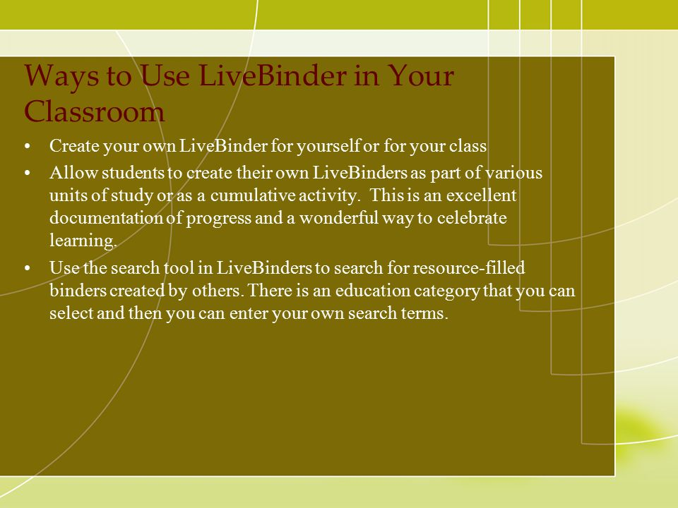 Ways to Use LiveBinder in Your Classroom