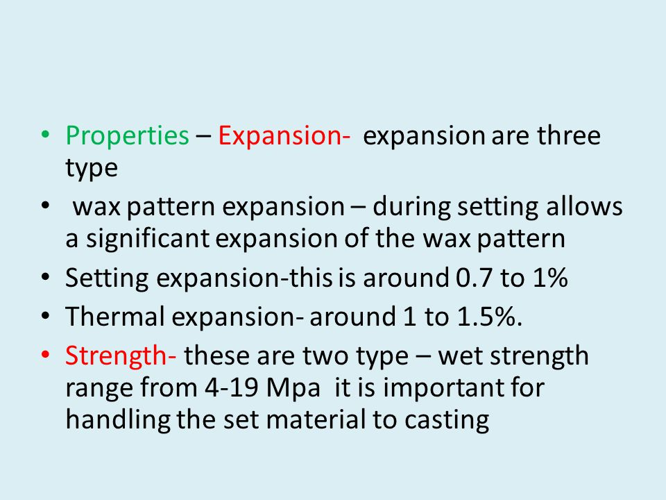 Properties – Expansion- expansion are three type