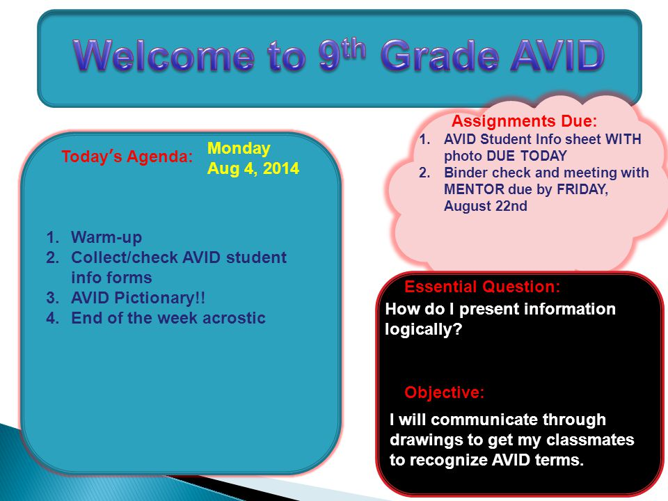Welcome to 9th Grade AVID