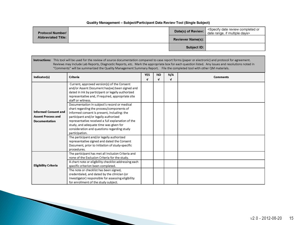 This is a sample checklist. It is linked to from page 12.