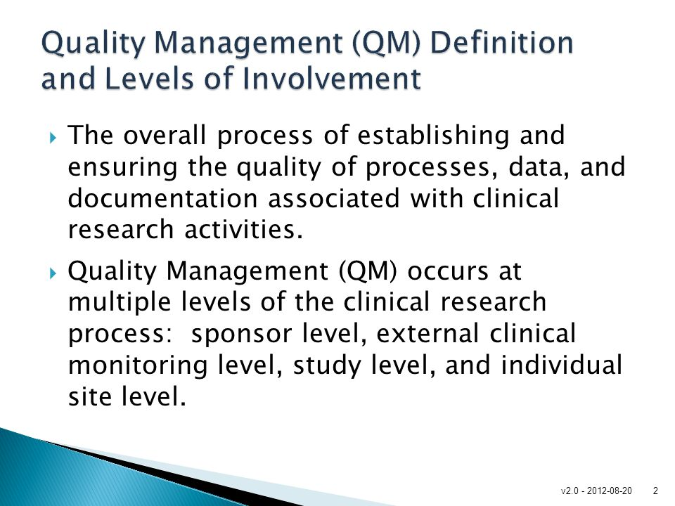 Quality Management (QM) Definition and Levels of Involvement