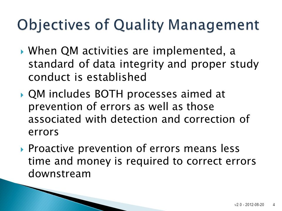 "objective of tqm The simple objective of tqm is ""do the right things, right the first time, every time""  tqm is infinitely variable and adaptable although originally applied to."