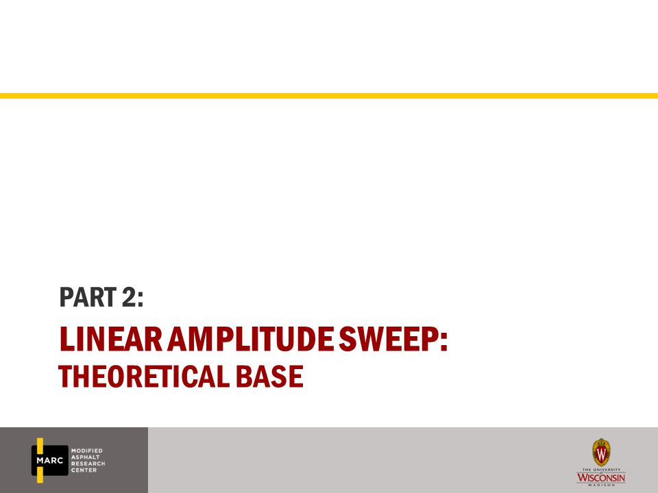 Linear amplitude sweep: theoretical base