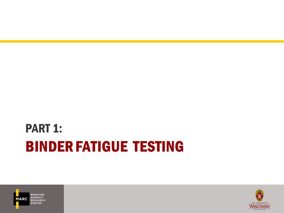 Binder fatigue testing
