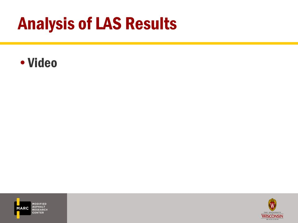 Analysis of LAS Results