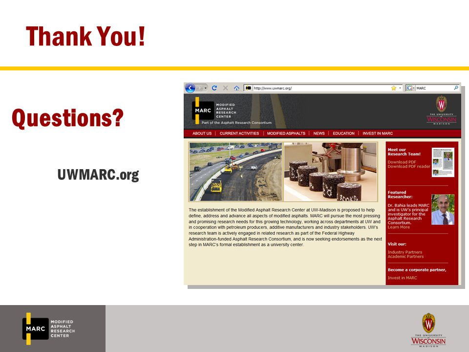 Thank You! Questions UWMARC.org 35