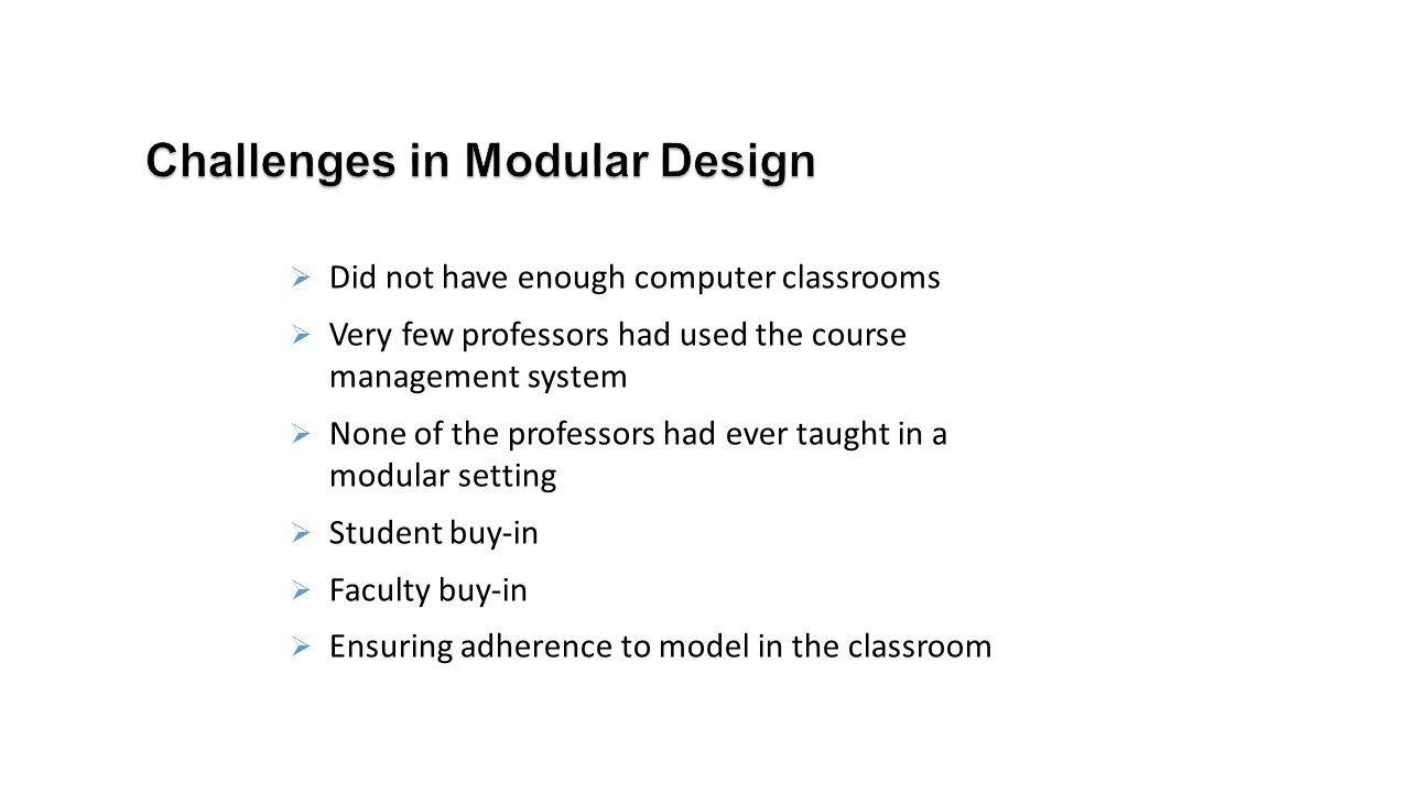 Challenges in Modular Design