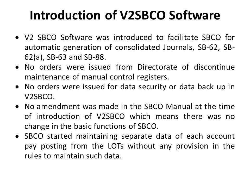 Introduction of V2SBCO Software