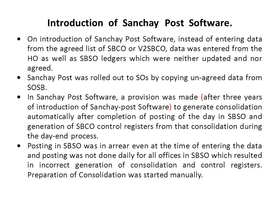 Introduction of Sanchay Post Software.