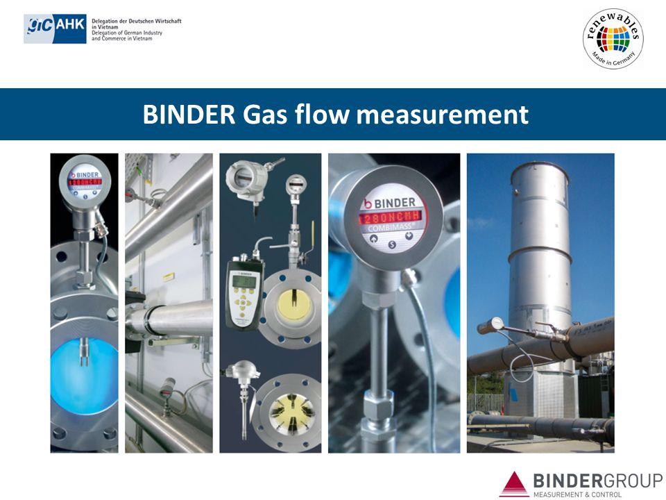 BINDER Gas flow measurement