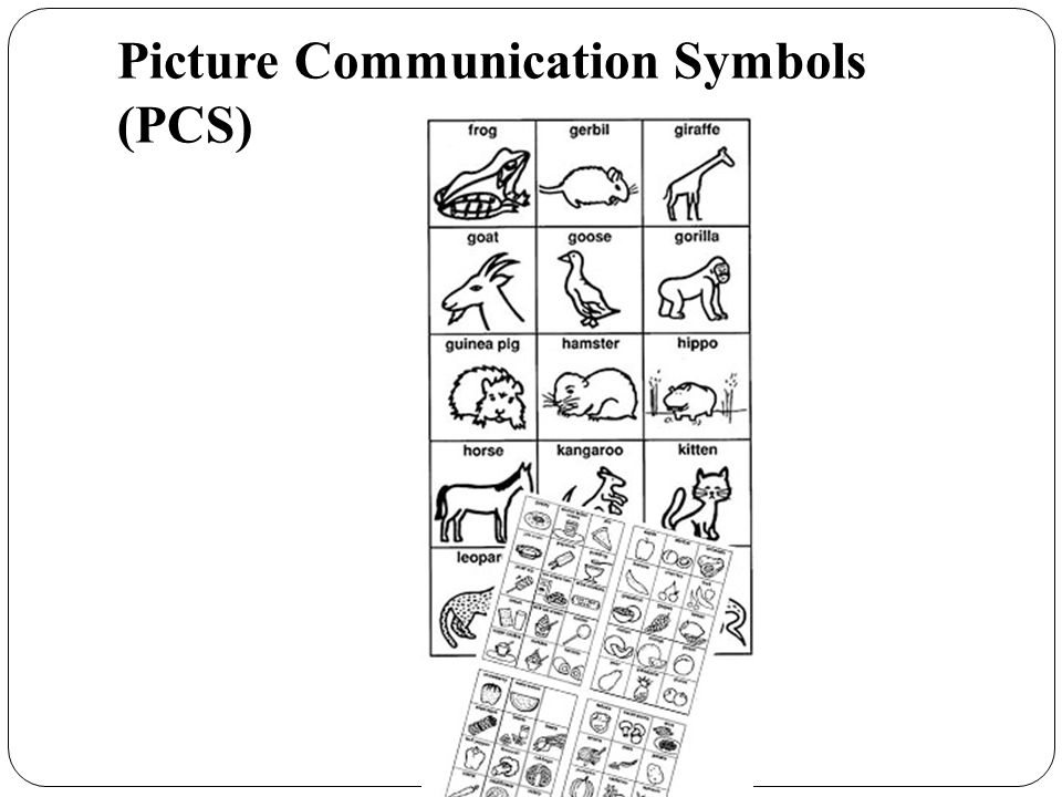Picture Communication Symbols (PCS)