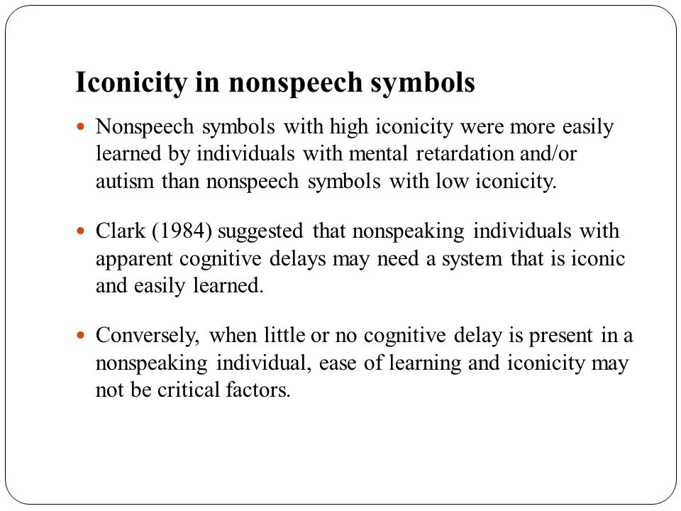 Iconicity in nonspeech symbols