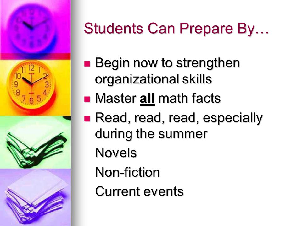 Students Can Prepare By…