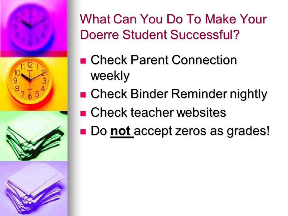 What Can You Do To Make Your Doerre Student Successful
