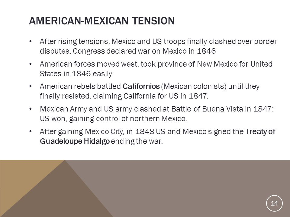 American-Mexican Tension
