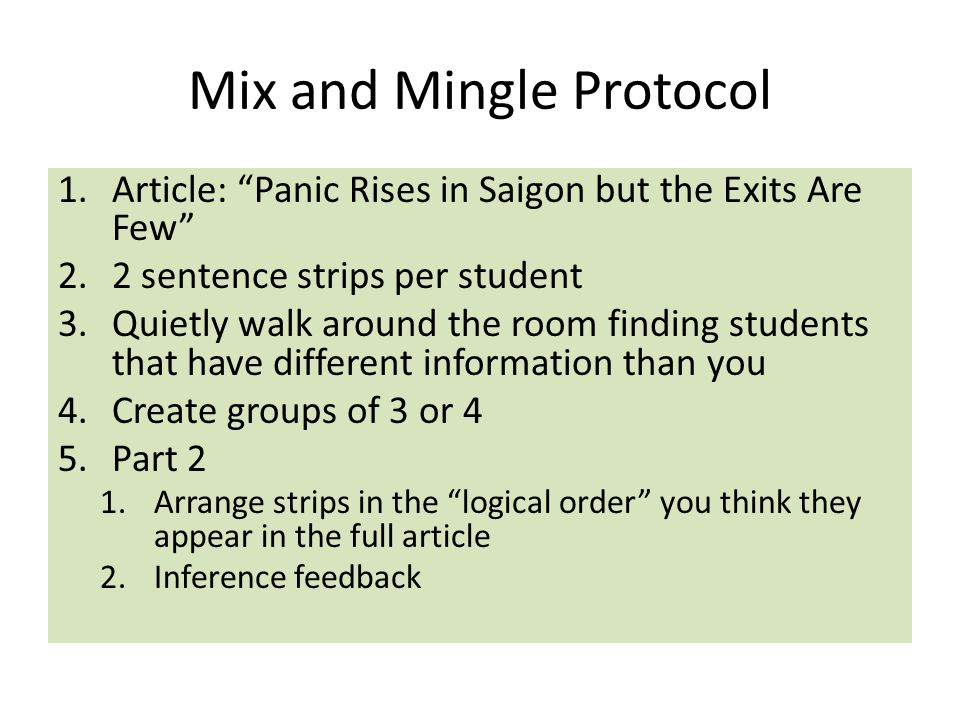 Mix and Mingle Protocol