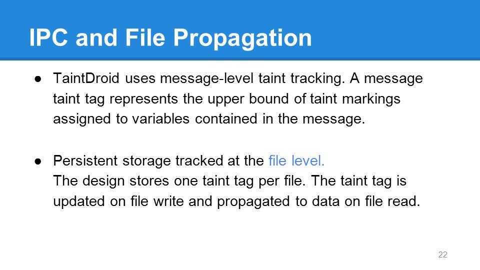 IPC and File Propagation
