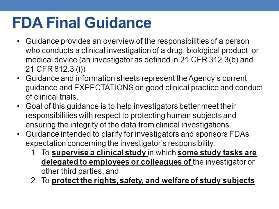 FDA Final Guidance