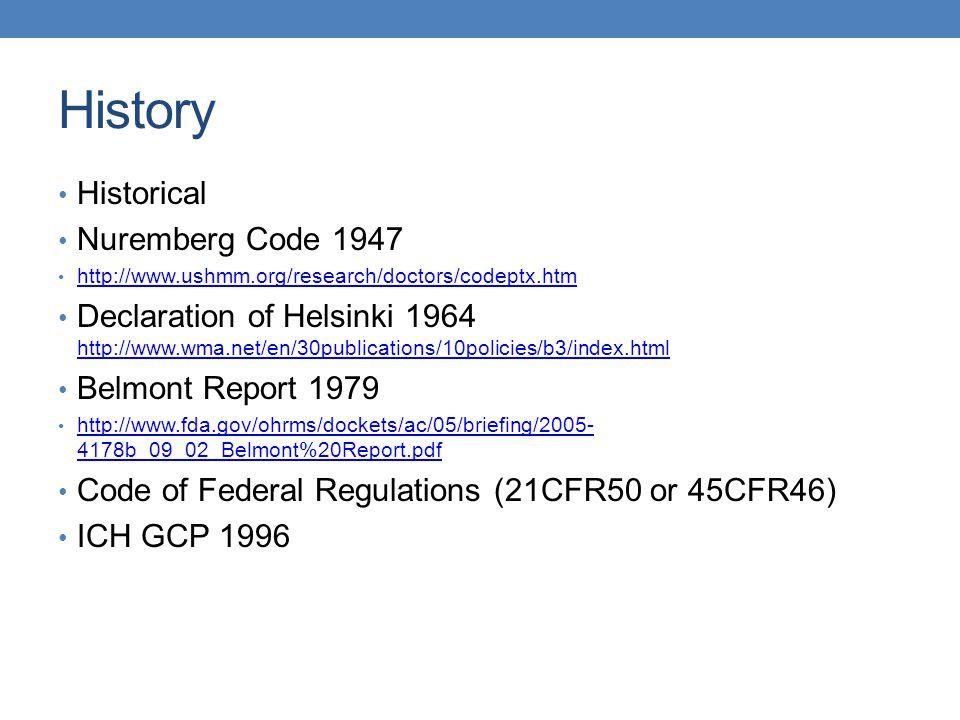 History Historical Nuremberg Code 1947