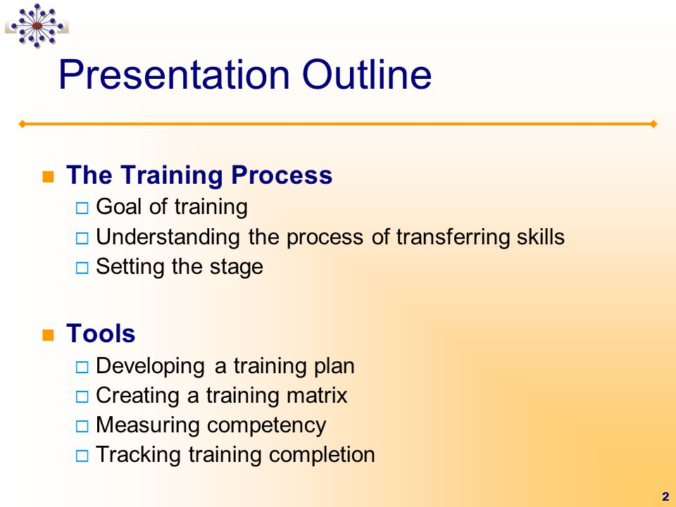 training presentation outline